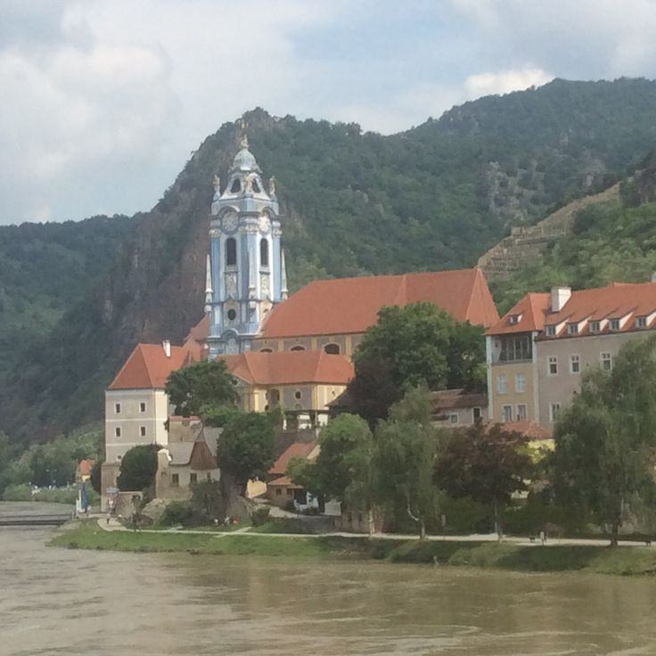 On the Danube River floating past Durnstein
