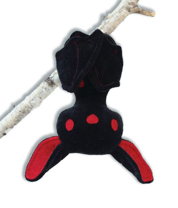Halloween Bat with flexible wings Stuffed Animal by RibizliDesign
