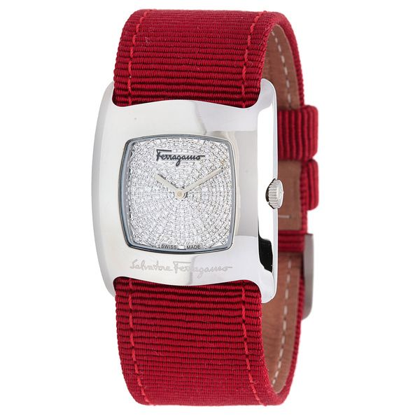 Pre-Owned Salvatore Ferragamo Women's Red Strap Watch - Overstock™ Shopping - Big Discounts on Salvatore Ferragamo More Brands Women's Watches
