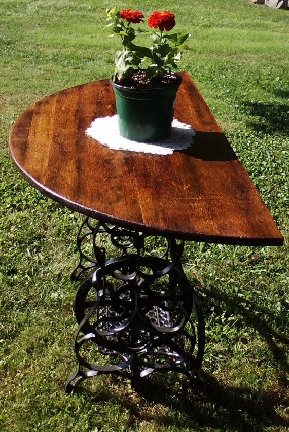 Antique Sewing Machine Table by BeautyUnderWood on Etsy