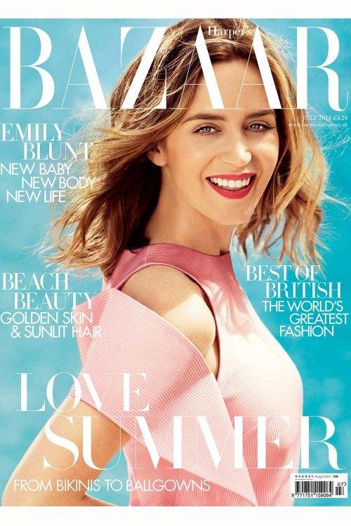 Emily Blunt covers July 2014 Harper's Bazaar http://uk.bazaar.com/1pAaIc4