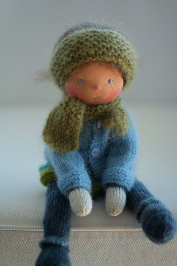 Crochet Knit Stitch Waldorf : Waldorf knitted doll Dorit 13 by Peperuda dolls by danielapetrova
