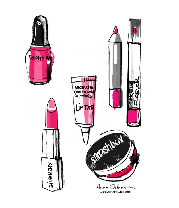Sephora, Smashbox, Givenchy Cosmetics, Illustration Anna Ostapowicz
