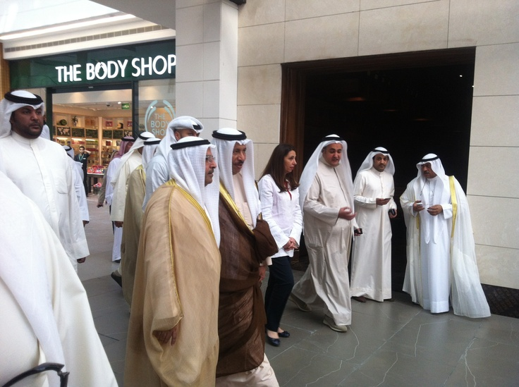 Kuwait Prime Minster in the Avenuse mall opening
