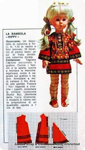 Scuola di cucito vintage: vestitino Hippy per la bambola