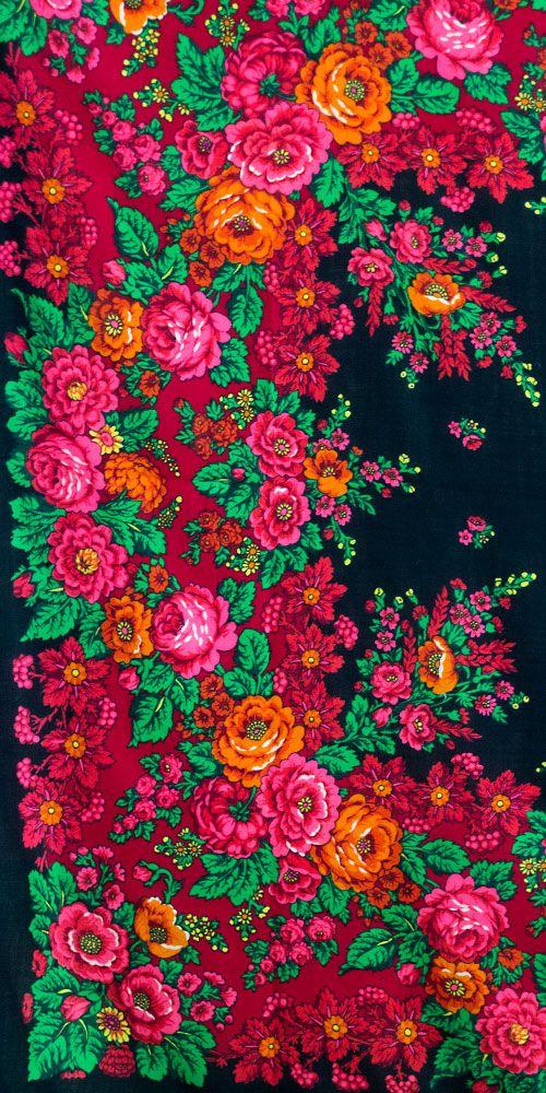 "Russian vintage shawl ""Livadiya"" (name of the Romanovs' summer residence in Crimea) designed by Irina Dadonova, Pavlovo Posad Shawl Manufacture."