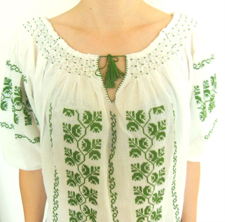 FREE SHIPPING Romanian Embroidery blouse, handmade cross stitch blouse, hippie blouse, boho blouse, peasant blouse, summer blouse by BlouseRoumaine on Etsy https://www.etsy.com/listing/195246296/free-shipping-romanian-embroidery-blouse