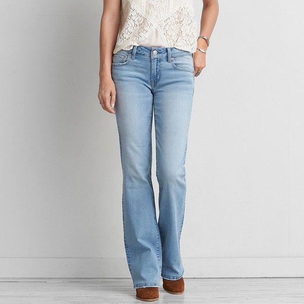 Favorite Boyfriend Jean ($30) ❤ liked on Polyvore featuring jeans, blue, boyfriend fit jeans, american eagle outfitters, american eagle outfitters boyfriend jeans, stretchy jeans and relaxed fit jeans