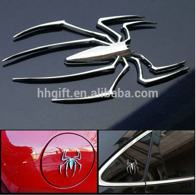 2017new hot 3D Spiderman Car Sticker Metal emblem and Personalized metal spider logo bike motorcycl accessories