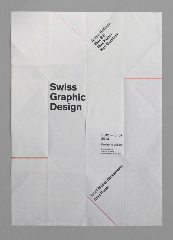Project1 : Swiss graphic design exhibit poster by kim youngkyoung, via Behance