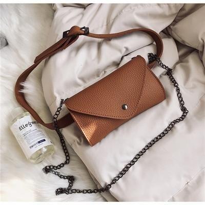 Women Solid Color Shoulder Bag Trendy PU Messenger Bag Crossbody Purse for Girls