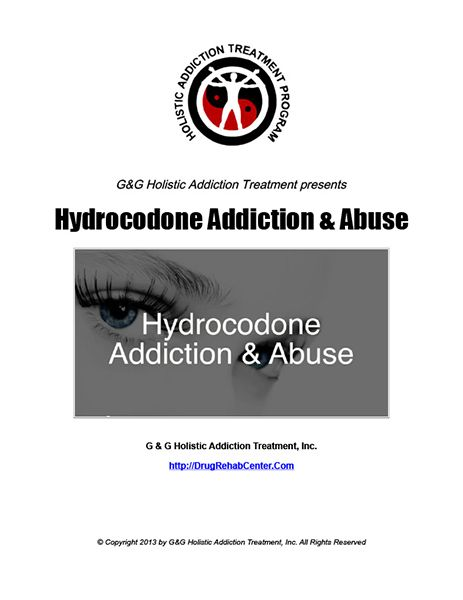 Hydrocodone Addiction and Abuse is the subject of this Special Report.