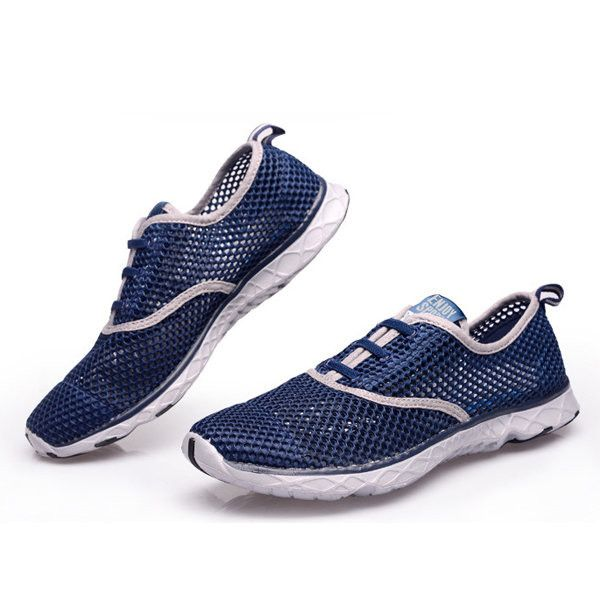Men's Athletic Running Shoes Fashion Sneakers Fitness Shoes Casual Mesh Soft Sole Lightweight Breathable Kiss Punch Casual Walking Sneakers