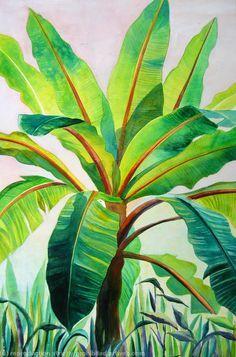 Resultado de imagen para pintura hojas de platano