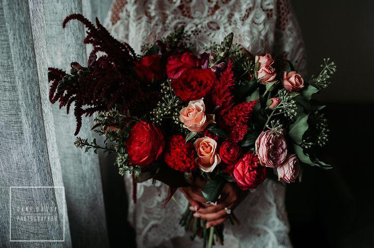 Wedding Florals Flowers  Deep Romance  Copyright Dani Drury Photographer