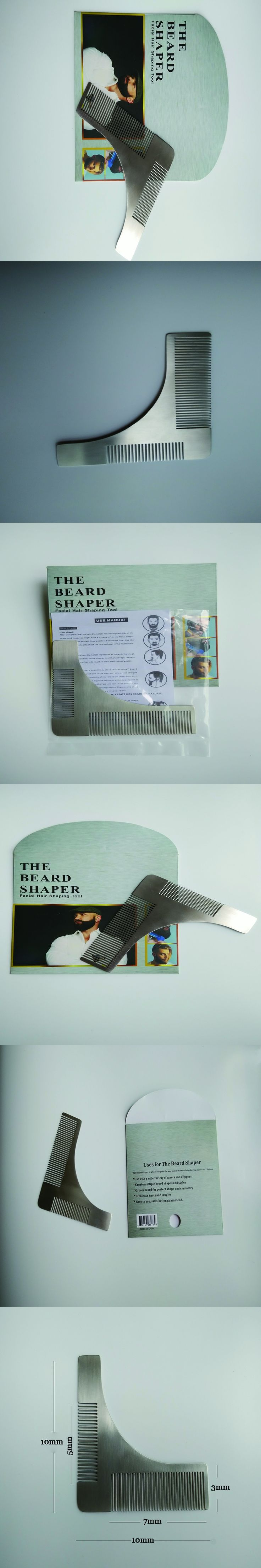 Brand licensing Top Stainless Beard Shaping Comb Shaving trimmer with Customization Support for Cool Guys