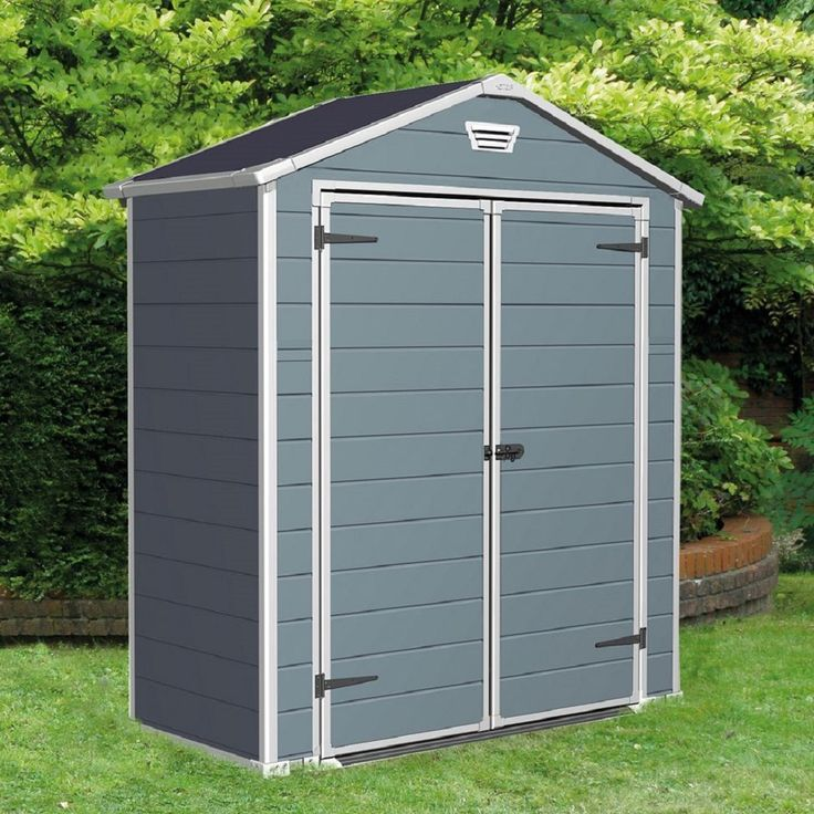 manor 6 ft w x 3 ft d resin storage shed