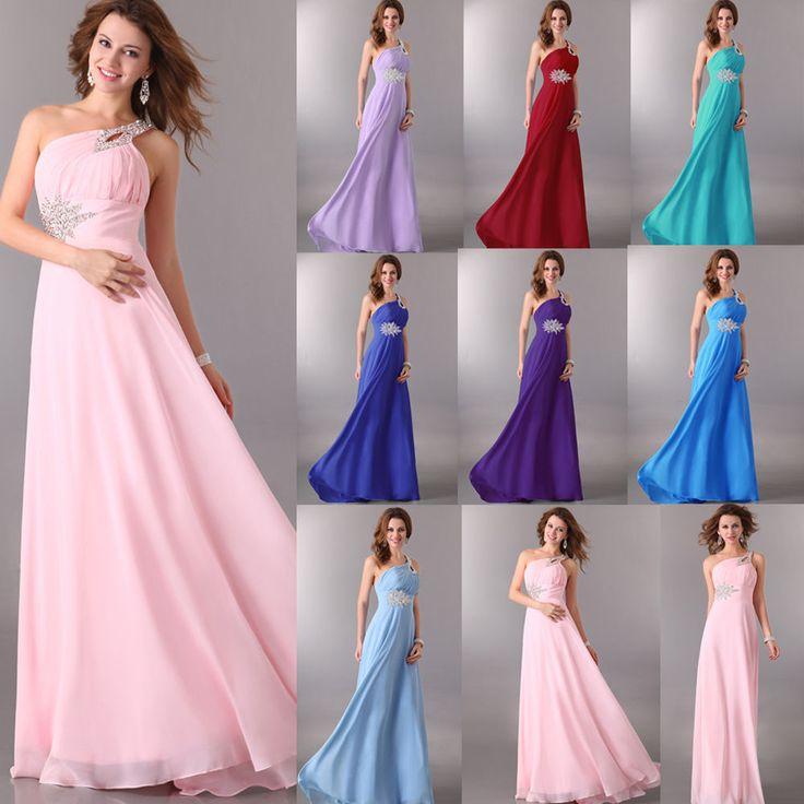 plus size formal long graduation prom wedding gown bridesmaid evening new dress gk ballgownmaxioneshoulder50srockabilly