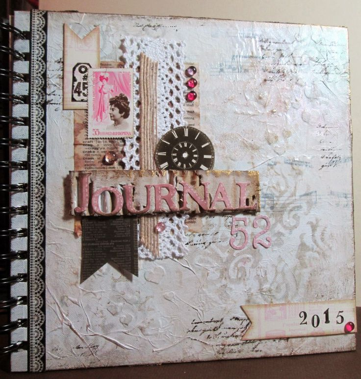 Journal 52 Cover - for PaperArtsy challenge - Fragile Papers.