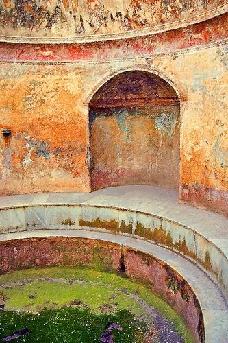 Earthy and upbeat color palette inspiration circa baths at Pompeii.