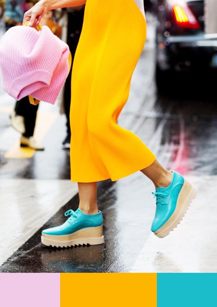 7 Summer Color Combos You've Never Thought of Before via @WhoWhatWear: Pale Pink + Yellow + Turquoise