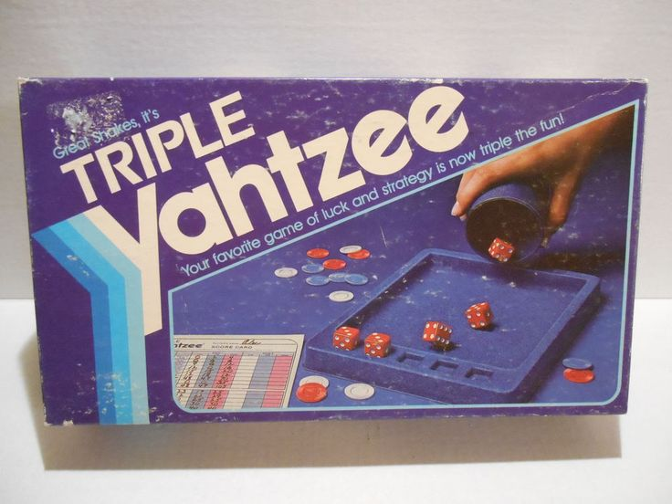 Triple Yahtzee Dice Game Milton Bradley 1982 ~ Complete #MiltonBradley