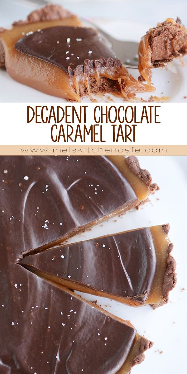 This decadent chocolate caramel tart is a show-stopper (you can also make it in a pie plate)! As delicious as it is pretty, I promise it is surprisingly easy to make…you don't even need a candy thermometer for the homemade caramel layer!