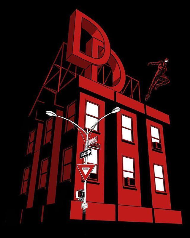 Dare Devil Season 3 Art  #marvel #comics #daredevil #geek #nerd #tshirt #art #geeklyshirts