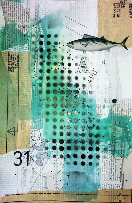"""Collage by Paper Alibi, repinned from """"The Paper Addict""""....you have some VERY cool collages!!"""