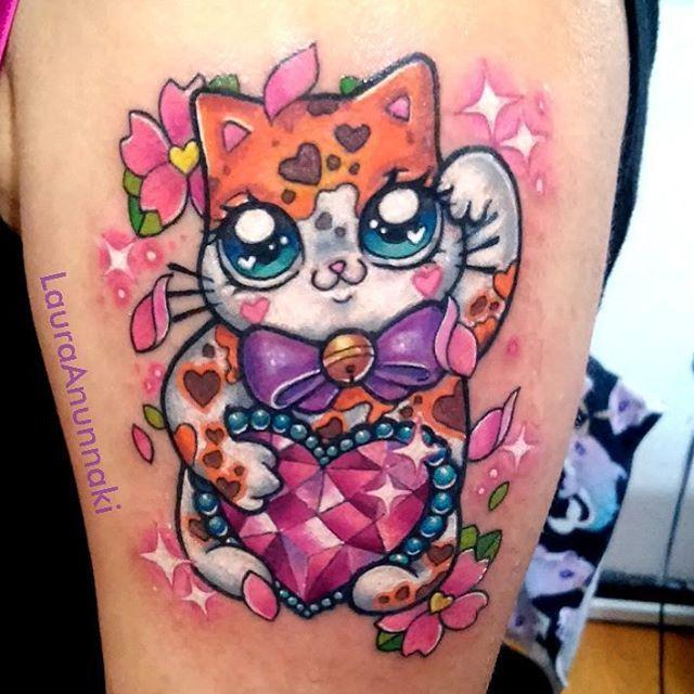 best 20 lucky cat tattoo ideas on pinterest maneki neko lucky meaning and cat tattoos. Black Bedroom Furniture Sets. Home Design Ideas