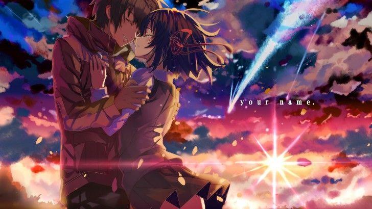 Your Name. Anime Comet Movie Taki and Mitsuha Wallpaper