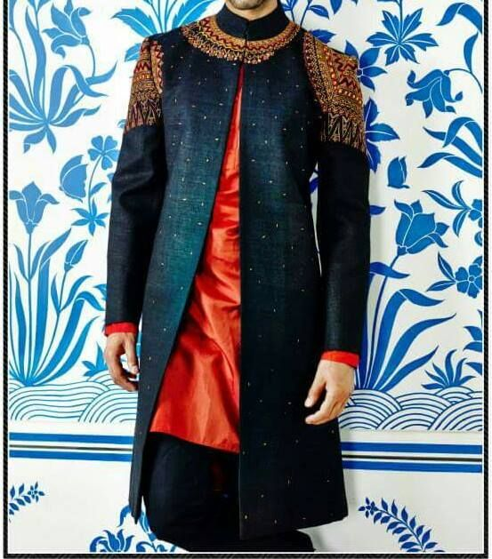 #DesignerIndoWesternSherwaniOnline #BestIndoWesternSherwaniSale #StylishIndoWesternSherwaniOnline #LatestIndoWesternSherwaniSale Maharani Designer Boutique   To buy it click on this link :  http://maharanidesigner.com/?product=Buy-Indo-Western-Sherwani-Online  Handwork   Rs. 9800  For any more information contact on WhatsApp or call 8699101094 Website www.maharanidesigner.com