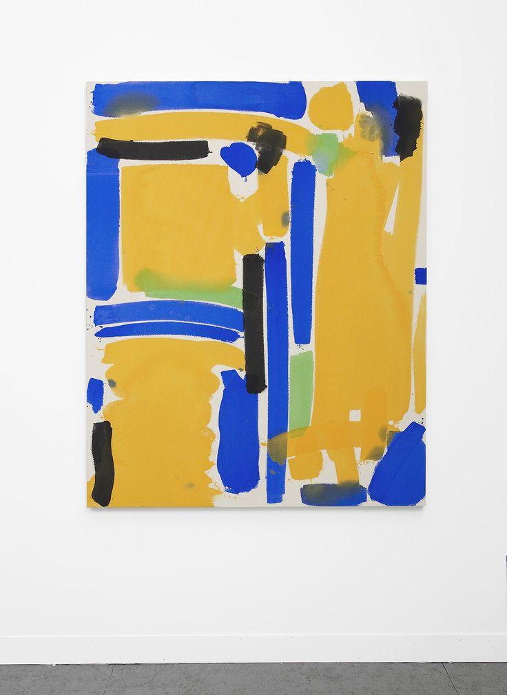 Matt Connors,No Input (yellow, blue, green),2013 Acrylic on canvas. viajesuisperdu