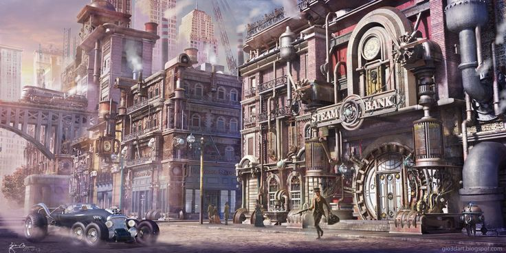 STEAMPUNK print TOWN by giodesigns | Steampunk | Pinterest ...
