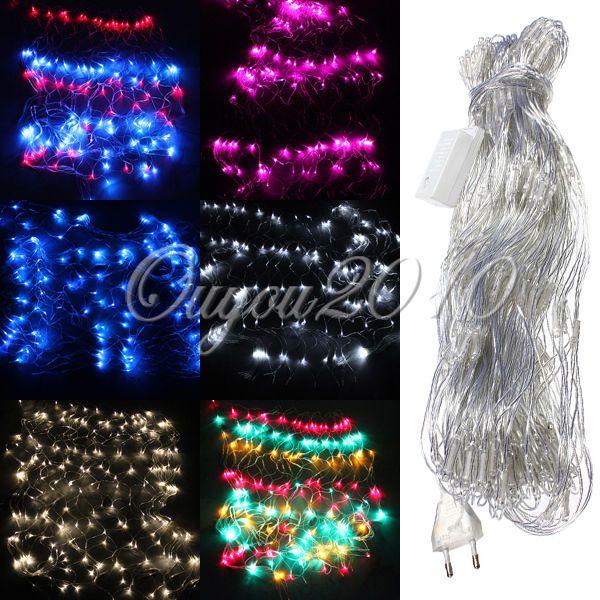 300 LED Netz Weihnachten Party Lichterkette Lichternetz Leuchte 4.2m x 1.6m 220V