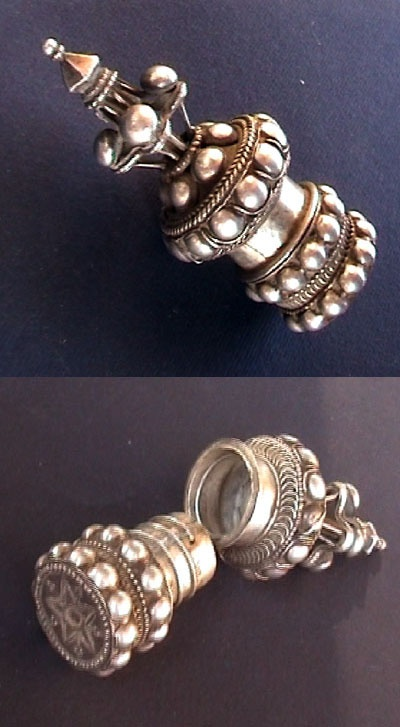Indian Silver Ear Stud    © Karim Carlo Rotondi