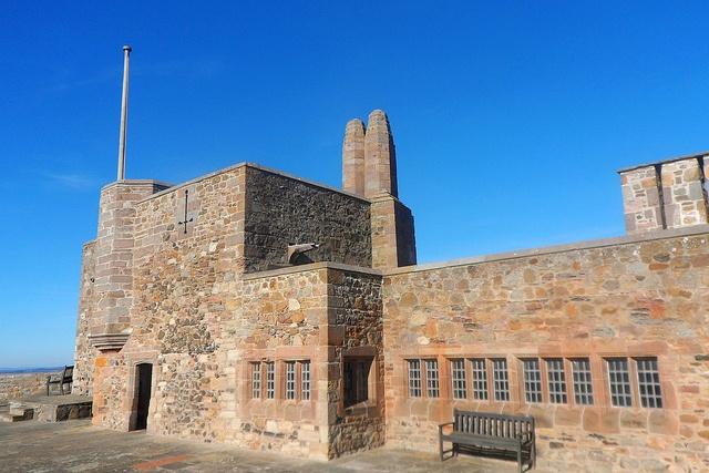Upper Battery of Lindisfarne Castle in Northumberland, England: http://www.europealacarte.co.uk/blog/2013/04/01/lindisfarne-castle-photos/