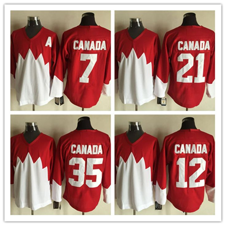 New Stitched red 7 PHIL ESPOSITO 12 YVAN COURNOYER 21 STAN MIKITA 35 TONY ESPOSITO Team Canada 1972 Throwback Ice Hockey Jerseys