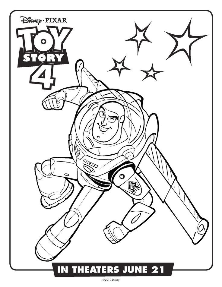Free Printable Toy Story Buzz Lightyear Coloring Page