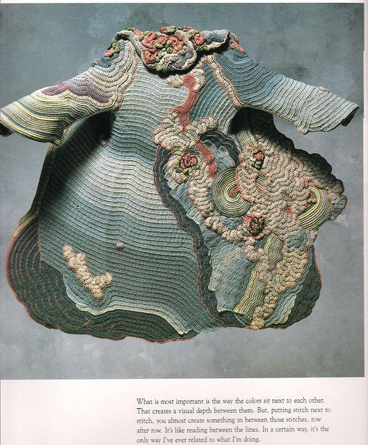 Sharron Hedges Lydia's Coat 1975 wool yarn crocheted