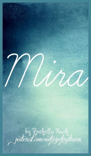 Baby Girl Name: Mira (meera). Meaning(s) and Origin(s): Ocean or Sea (Hindi). Peace; Wonder; Good (Slavic; Slovenian; Croatian; Albanian; Polish; Serbian). Also, a variant of the Hebrew name Miriam. https://www.pinterest.com/vintagedaydream/baby-names/