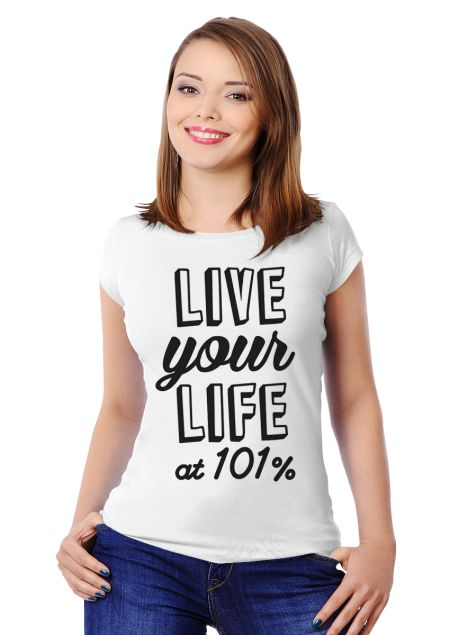 At 101% Women's Slim Fit T-shirt Design by Ejmadziu   Teequilla   Teequilla