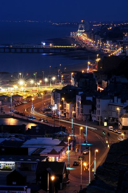 Hastings by night.