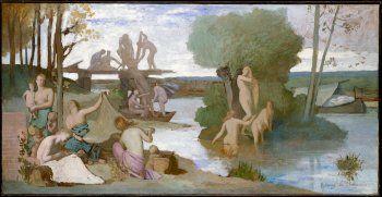 Pierre Puvis de Chavanne, The River, c.1864, Oil on paper, laid down on canvas, 129,5 x 252,1 cm, Metropolitan Museum of Art, New York
