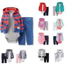Drop shipping christmas baby bebes boy girl clothing set 3pcs ( hoodies + rompers + pants ) roupas de bebe baby girl sets retail(China (Mainland))