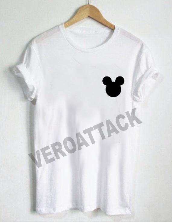 mickey head pocket T Shirt Size XS,S,M,L,XL,2XL,3XL