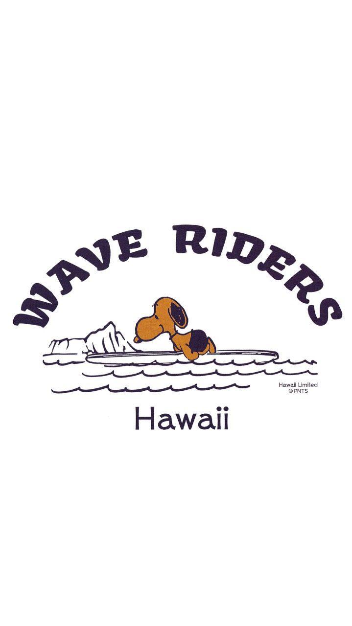 Wave Riders Snoopy Hawaii Iphone Wallpaper スヌーピー