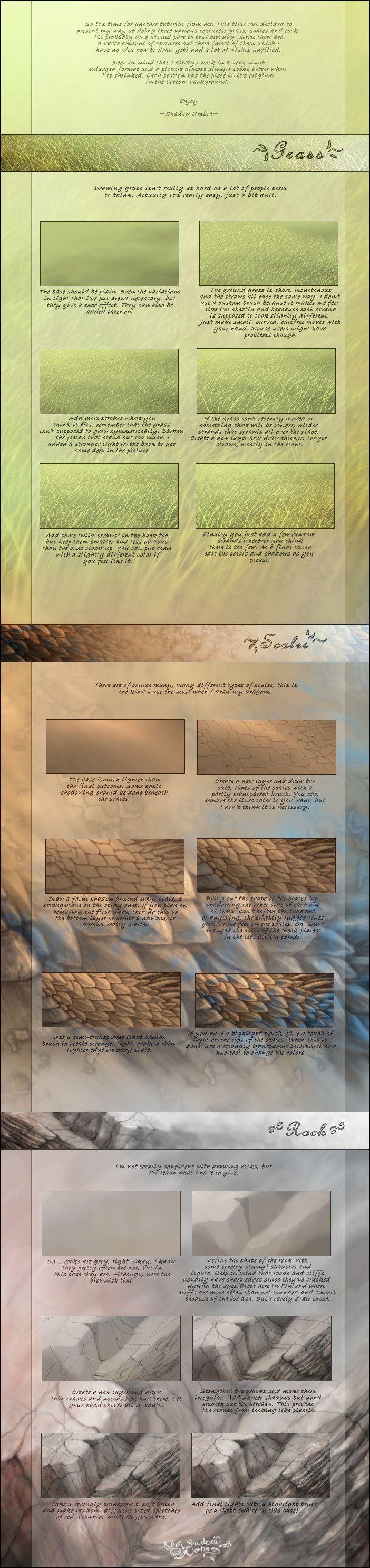 Various textures tutorial by MinnaSundberg on deviantART via cgpin.com