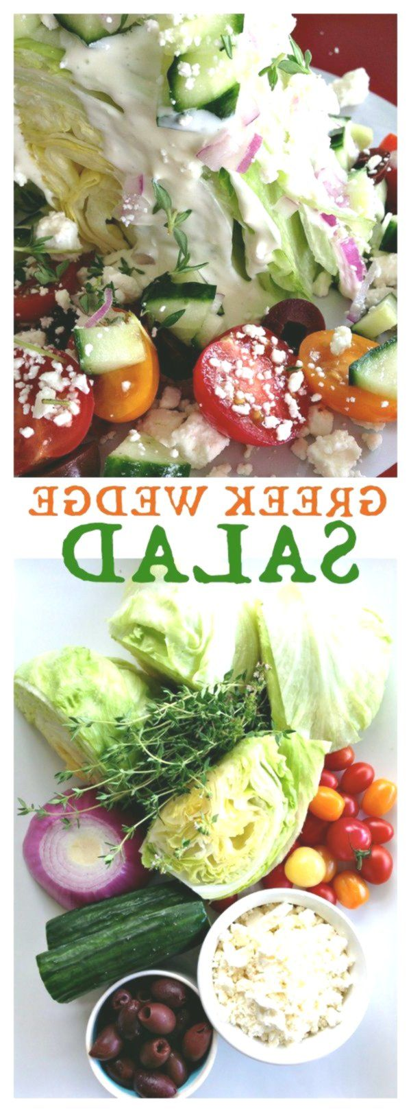 Healthy Greek Wedge Salad for salad bar potluck!, #Bar #Greek #HEALTHY #Potluck …