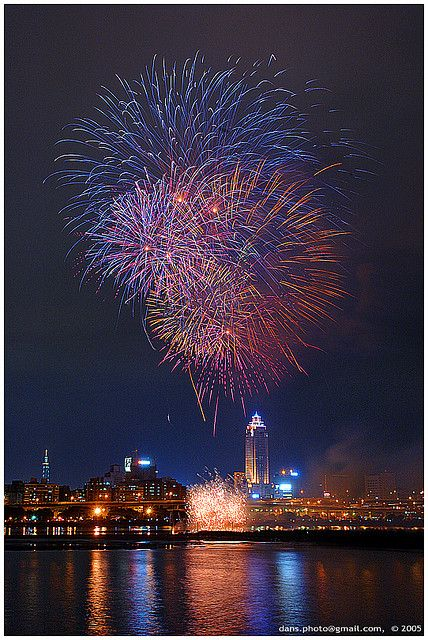New Year Fireworks in Taipei, Taiwan.  The best fireworks I've ever seen and that was in the 70's. bb